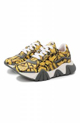 Кожаные кроссовки Versace YHX00029/YB00376/30-33