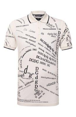 Хлопковое поло Dolce&Gabbana G8LI5T/FI740