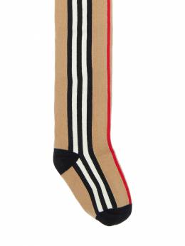 Icon Stripes Stretch Cotton Tights Burberry 72I1VI036-QTcwMjY1