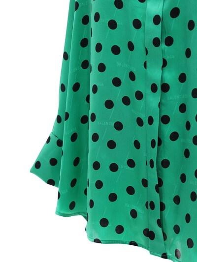 Рубашка Из Атласного Жаккарда В Горох Balenciaga 72I5CI044-MzA2NA2 - 2