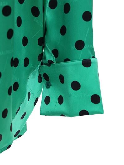 Рубашка Из Атласного Жаккарда В Горох Balenciaga 72I5CI044-MzA2NA2 - 3