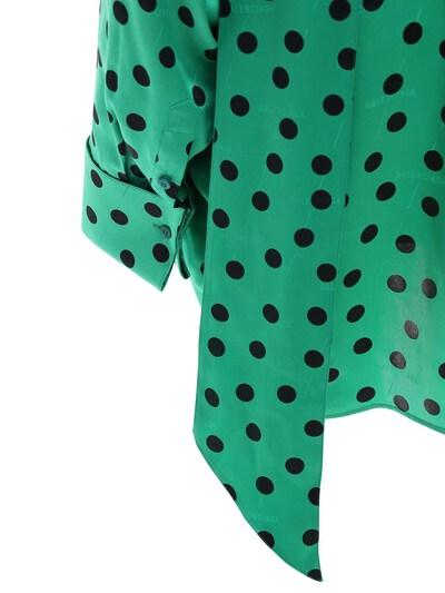 Рубашка Из Атласного Жаккарда В Горох Balenciaga 72I5CI044-MzA2NA2 - 5
