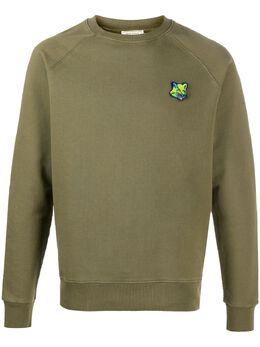 Maison Kitsune fox patch cotton sweatshirt FM00385KM0001