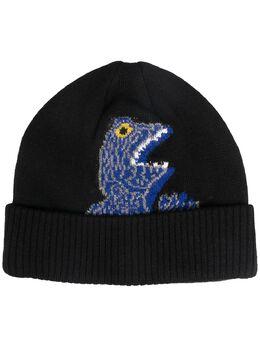 Paul Smith dinosaur-print knitted beanie M2A807EAH515