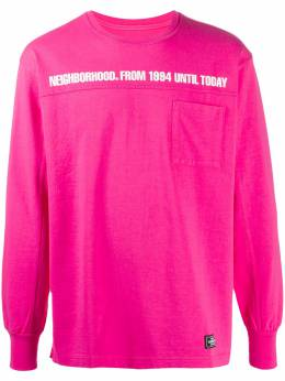 Neighborhood футболка с длинными рукавами и карманом 191FPNHCSM01