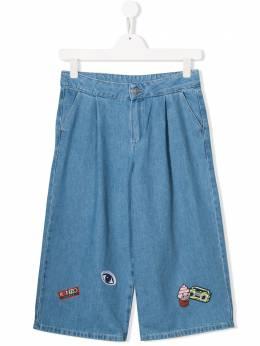 Kenzo Kids широкие джинсы с нашивками KN22038