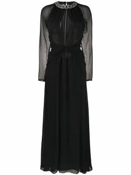 Amen платье с кристаллами и V-образным вырезом AMW20506