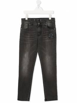 John Richmond Junior джинсы с нашивкой-логотипом RGA20201JE