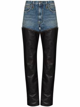 R13 Axl zip-off straight leg jeans R13W7601769E