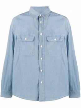 Visvim рубашка с нашивками на локтях 0120205011007