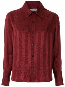 Saint Laurent полосатая рубашка в горох 626928Y3B27