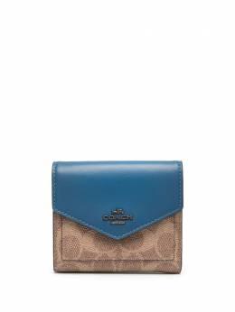 Coach small wallet in colourblock signature canvas 31548