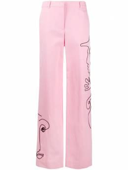 Moschino брюки Cornely с вышивкой A03110415
