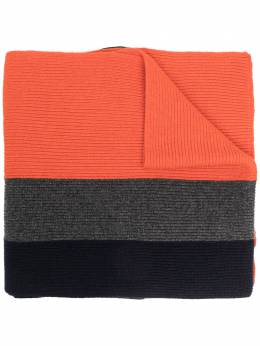 Dsquared2 logo patch colour-block knitted scarf KNM004901W03588