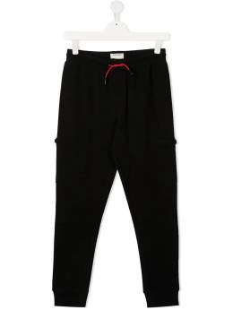 Zadig & Voltaire Kids TEEN rear logo patch track pants X24078