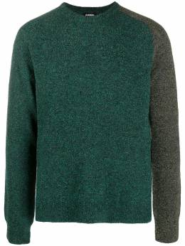 Diesel colour-block crew neck sweater A012750GBAH