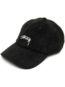 Stussy кепка с вышитым логотипом 131958PBLACK