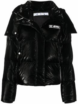 Off-White button-front puffer coat OWEA213F20FAB0011000