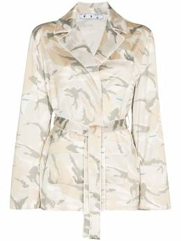 Off-White camouflage-print belted-waist shirt OWGA065G20FAB0016001