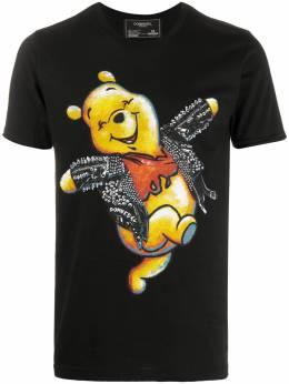 Domrebel футболка с принтом Winnie the Pooh HAPPYTSHIRTBLACK160269