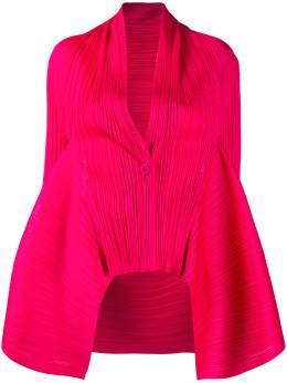 Pleats Please Issey Miyake плиссированный пиджак с драпировкой PP08JO492