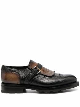 Santoni туфли монки с кисточками MCCO17387ML8HHSI