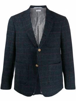 Thom Browne клетчатый пиджак с заостренными лацканами MJC010A05791