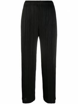 Pleats Please Issey Miyake укороченные брюки со складками PP08JF185