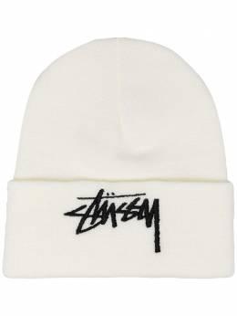 Stussy шапка бини с вышитым логотипом 132985