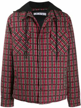 Off-White check hooded jacket OMEA236F20FAB0012510