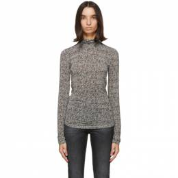 Isabel Marant Black and White Goyela Turtleneck 20ATS0760-20A032I