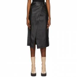Simon Miller Black Faux-Leather Vega Mid-Length Skirt W2000-3104