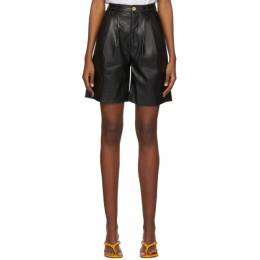 Simon Miller Black Faux-Leather Norm Shorts W5001-3104