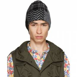 Engineered Garments Black and Grey Patchwork Beanie 20F1B029
