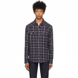 Isabel Marant Blue and Red Check Pitt Shirt CH0500-20A027H