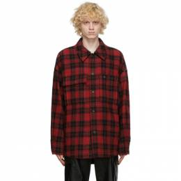 Wooyoungmi Red Wool Plaid Jacket JP02