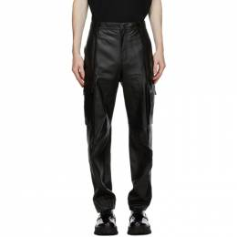 Wooyoungmi Black Leather Cargo Pants PT14