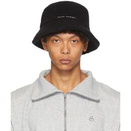 Isabel Marant Black Alpaca Denji Bucket Hat CU0040-20H004A