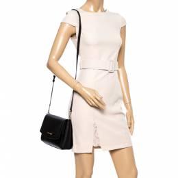 Michael Kors Black Leather Medium Ellis Crossbody Bag 348421