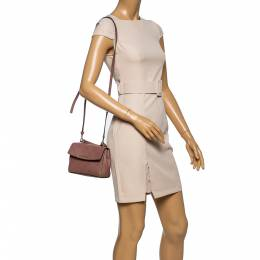 Michael Kors Old Rose Leather Mini Ava Top Handle Bag 348487