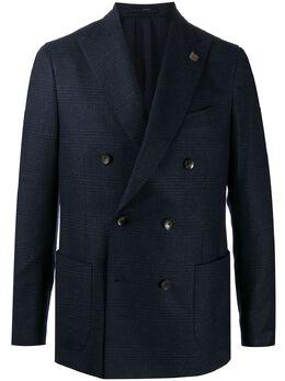 Lardini fitted double-breasted blazer IM660AERP55598850NE161116