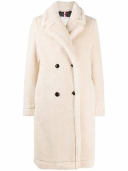 Tommy Hilfiger shearling double-breasted coat WW0WW29339