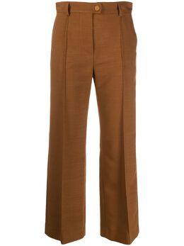 See By Chloe укороченные расклешенные брюки CHS20WPA01026