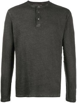 Majestic Filatures collarless polo shirt HTU036M506