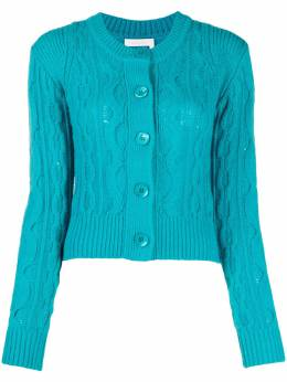 See By Chloe cable-knit fitted cardigan CHS20WMC05600