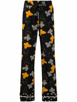 Red Valentino butterfly pattern trousers UR0RBC205EL