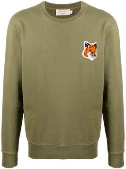 Maison Kitsune Fox Head crew neck sweatshirt FU00387KM0001