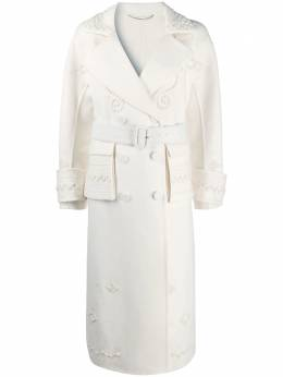 Ermanno Scervino embroidered double-breasted trench coat D376D731RDDT