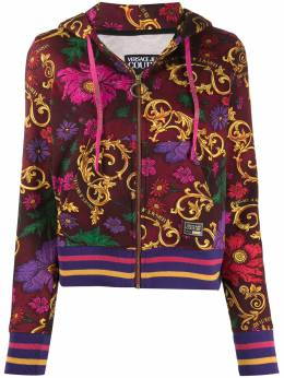 Versace Jeans Couture baroque-print zipped hoodie B6HZB795S0868