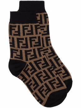 Fendi FF-logo knitted socks FXZ566AEOG